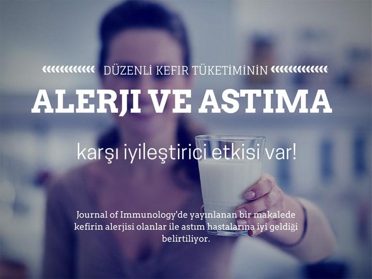 Kefirin Faydaları - Düzenli olarak içilen ev yapımı kefirin alerji ve astıma karşı iyileştirici özelliği olduğu bilim adamları tarafından kanıtlandı.