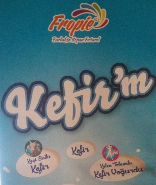 Fropie keçi sütü ile de kefir üretimi yapan bir diğer marka
